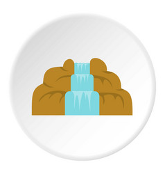 Waterfall icon circle vector