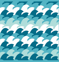 abstract simple wave seamless pattern background vector image vector image