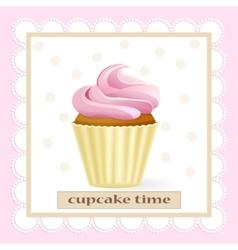 Cupcake tame vector image