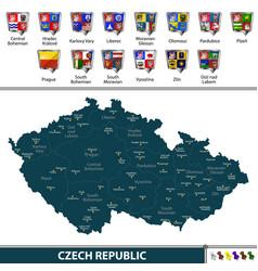 map of czech republic vector image