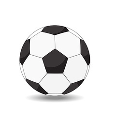 soccer ball on white background eps10 vector image