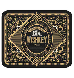 Whiskey label with old frames layered vector