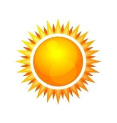 Cartoon Style Glossy Sun Icon vector image vector image