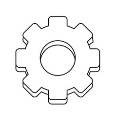 gear engineer work cooperation thin line vector image