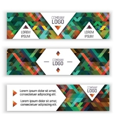 Horizontal banners design templates set Colorful vector image vector image