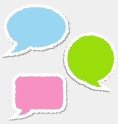 Paper speech vector image