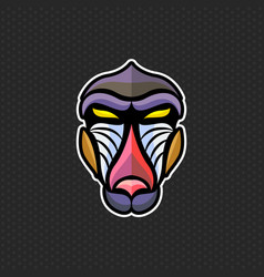 baboon logo design template baboon head icon vector image
