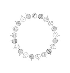 decorative round frame from christmas ball toy vector image vector image