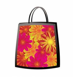 floral bag vector image vector image