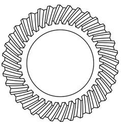helical gear icon vector image vector image