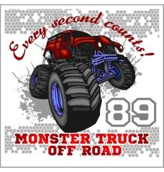 Monster Truck - off road badge vector image