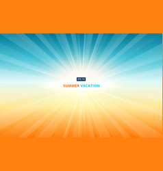morning sun shines in the sky in summer vacation vector image vector image