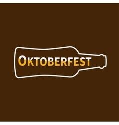 Oktoberfest Beer bottle Lined icon Flat design vector image vector image