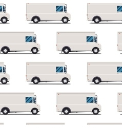 seamless pattern of delivery trucks vector image vector image