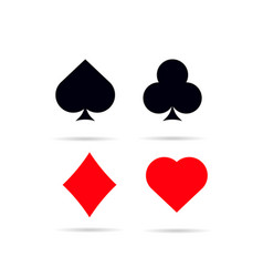 set of poker card symbols vector image