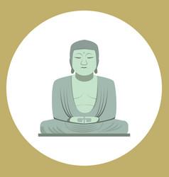 the great buddha statue in kamakura japan vector image