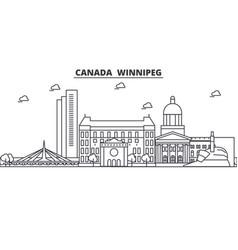 canada winnipeg architecture line skyline vector image