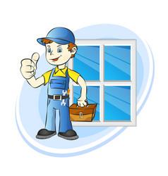 installing windows service vector image