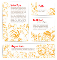 italian pasta macaroni product poster template vector image vector image