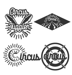 Vintage circus emblems vector