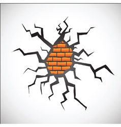 wall with crack vector image