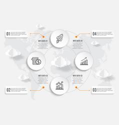 world map infographics geometric concept design vector image