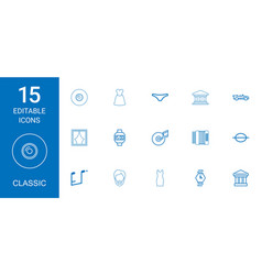 15 classic icons vector