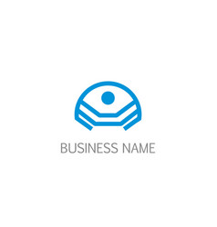 Abstract people geometry business logo vector