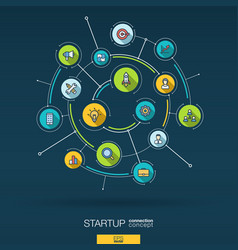 Abstract startup project development background vector