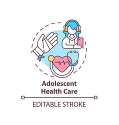 Adolescent health care concept icon vector