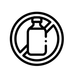 allergen free sign lactose thin line icon vector image