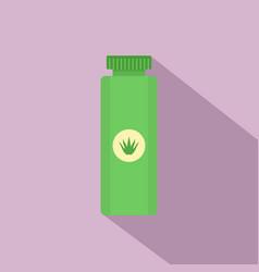 Aloe vera tube icon flat style vector