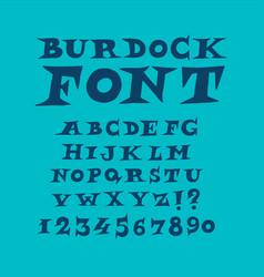 alphabet english modern fun font a complete vector image