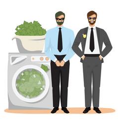 Anti money laundering concept vector