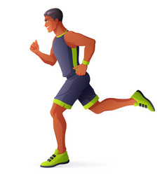 athlete man running isolated vector image