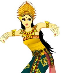 Balinese dancer vector image