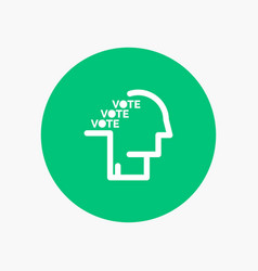 Ballot election poll referendum speech vector