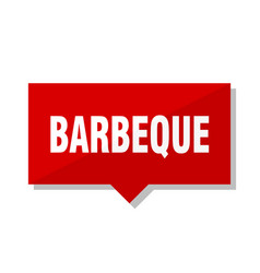 Barbeque red tag vector