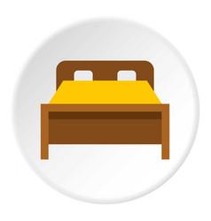 Bed icon circle vector