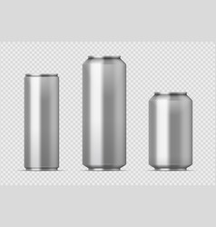 beer can mockup realistic aluminum metal can vector image