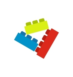 Building bricks icon vector image