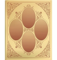 card design with engraving organized layers vector image