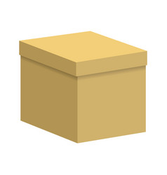 carton box with a closed lid vector image