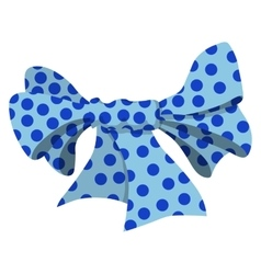 Cartoon bow blue sign vector image