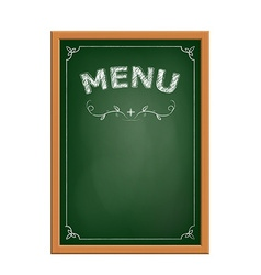 Chalk board menu vector