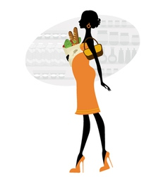 chic pregnant woman vector image