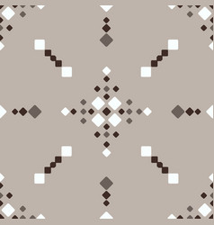Christmas fair isle brown white vbeige seamless vector