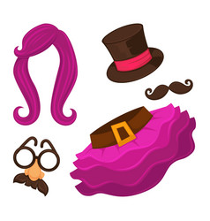 clothes for changing appearance hat and skirt vector image