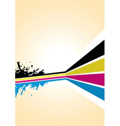 cmyk spash background vector image