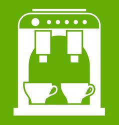 coffee machine icon green vector image